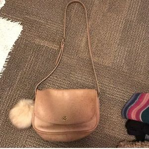 Tan Vintage Coach purse